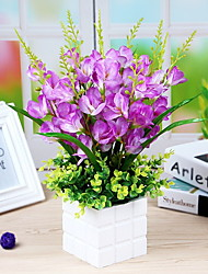 baratos -Flores artificiais 1 Ramo Clássico Rústico Campânula Flor de Mesa