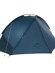 Недорогие -Naturehike 2 человека Туристические палатки Двухслойные зонты Карниза Сферическая Палатка Однокомнатная  на открытом воздухе Дожденепроницаемый  для Походы Нейлон 210*235*105 cm