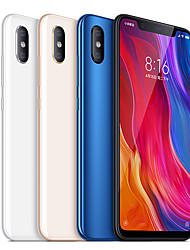 "baratos -Xiaomi MI8 Global Version 6.21 polegada "" Celular 4G (6GB + 128GB 12 + 12 mp Snapdragon 845 3400 mAh mAh) / Câmera Dupla"