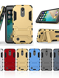 cheap -Case For LG K8 (2017) with Stand Back Cover Solid Colored Hard PC for LG K8 (2017)