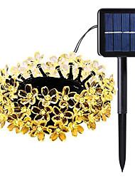 cheap -5m String Lights 50 LEDs 1Set Mounting Bracket Warm White / RGB / White Solar / Waterproof / Decorative 2 V 1set
