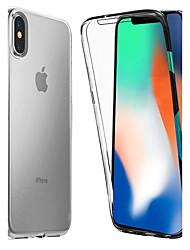 Недорогие -Кейс для Назначение Apple iPhone X / iPhone 8 Защита от удара / Прозрачный Чехол Однотонный Мягкий ТПУ для iPhone X / iPhone 8 Pluss / iPhone 8