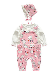 cheap -Baby Girls' Print Long Sleeve Clothing Set