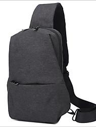 baratos -Homens Bolsas Náilon Sling sacos de ombro Estampa Preto / Cinzento Escuro