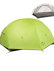 abordables -Naturehike 2 Personas Tienda con pantalla protectora Doble Capa Carpa para camping Al aire libre Ligeras, Resistente a la lluvia, Resistente al Viento para Escalada / Camping / Senderismo / Cuevas