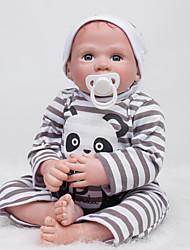Недорогие -OtardDolls Куклы реборн Мальчики 20 дюймовый Силикон - как живой, Ручные прикладные ресницы Детские Мальчики Подарок