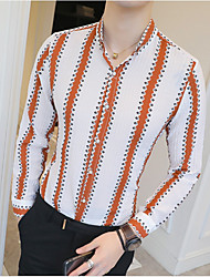 cheap -Men's Business Shirt - Striped Print
