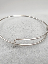 abordables -Bracelet Jonc Bracelet Femme Acier inoxydable dames Métallique simple Mode Bracelet Bijoux Argent Gris Or Rose Forme de Cercle pour Cadeau Quotidien