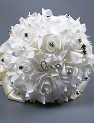 Недорогие -Свадебные цветы Букеты Свадьба Шелковый Как атласные / С бусинами / пена 11-20 cm