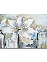 cheap -STYLEDECOR Modern Hand Painted Abstract Water Dyed White Flowers Oil Painting on Canvas Wall Art