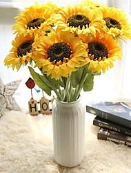 Недорогие -Искусственные Цветы 5 Филиал Простой стиль / Свадебные цветы Подсолнухи / Вечные цветы Букеты на стол