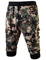billige -Herre Militær Chinos Bukser Farveblok / camouflage