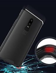 billiga -fodral Till OnePlus OnePlus 6 / OnePlus 5T Genomskinlig Skal Enfärgad Hårt Akrylfiber för OnePlus 6 / One Plus 5 / OnePlus 5T
