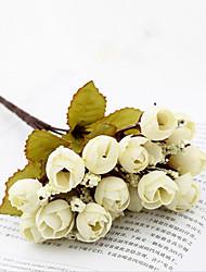 baratos -Flores artificiais 1 Ramo Clássico Vintage / Pastoril Estilo Rosas / Camélia Flor de Mesa