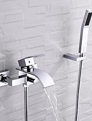 abordables -Grifo de bañera - Moderno Cromo Instalación en Pared Válvula Cerámica