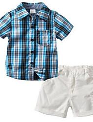 billige -Baby Drenge Ferie Ternet Kortærmet Bomuld Tøjsæt