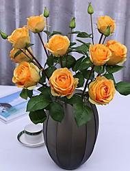 baratos -Flores artificiais 2 Ramo Clássico / Solteiro (L150 cm x C200 cm) Casamento / Modern Rosas / Flores eternas Flor de Mesa