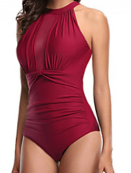 cheap -Women's One-piece - Solid Colored High Waist