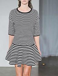 abordables -Mujer Básico / Tejido Oriental Línea A Faldas A Rayas