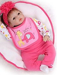 cheap -NPKCOLLECTION Reborn Doll Baby Girl 24 inch Silicone - lifelike, Artificial Implantation Brown Eyes Kid's Girls' Gift
