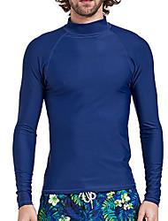 お買い得  -SBART 男性用 ラッシュガード UVサンプロテクション, ビデオ圧縮 スパンデックス / ナイロン ハーフスリーブ スイムウェア ビーチウェア ラッシュガード 水泳 / サーフィン / ウォータースポーツ