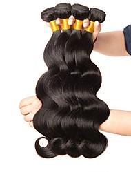 baratos -4 pacotes Cabelo Brasileiro Ondulado Cabelo Humano Cabelo Humano Ondulado / Extensor 8-28 polegada Côr Natural Tramas de cabelo humano Fabrico à Máquina Nova chegada / 100% Virgem Extensões de cabelo