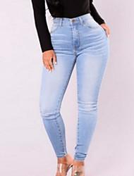 preiswerte -Damen Grundlegend Jeans Hose Solide