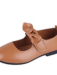 abordables -Fille Chaussures Polyuréthane Printemps été Chaussures de Demoiselle d'Honneur Fille Ballerines Marche Noeud / Scotch Magique pour Adolescent Noir / Marron / Vert foncé
