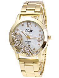cheap -Women's Wrist Watch Quartz Chronograph Cute Lovely Stainless Steel Band Analog Bangle Fashion Silver / Gold - Gold Silver One Year Battery Life / Imitation Diamond