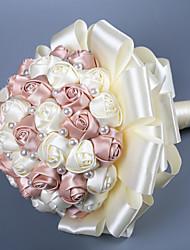 abordables -Fleurs de mariage Bouquets Mariage Comme Soie Satin / Perlé / / 11-20 cm