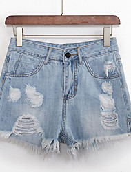 povoljno -Žene Aktivan Traperice / Kratke hlače Hlače Jednobojni