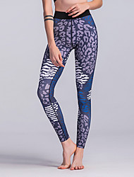 cheap -Women's Sporty Legging - Geometric, Print High Waist