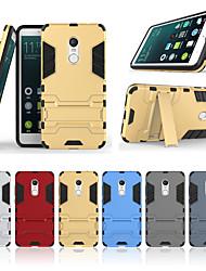 abordables -Funda Para Xiaomi Redmi Note 4 con Soporte Funda Trasera Un Color Dura ordenador personal para Xiaomi Redmi Note 4