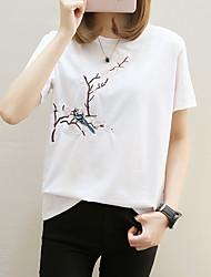 cheap -Women's Cotton T-shirt - Floral