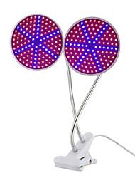 baratos -1pç 15 W 1000 lm E26 / E27 Lâmpada crescente 126 Contas LED SMD 2835 Novo Design / Clipe de suporte de lâmpada flexível Vermelho / Azul