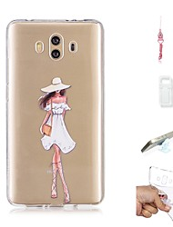 cheap -Case For Huawei Mate 10 Transparent Back Cover Sexy Lady Soft TPU for Mate 10