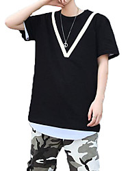お買い得  -男性用 Tシャツ ベーシック / ストリートファッション カラーブロック