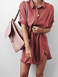 billige -Dame I-byen-tøj Tynd Skede Kjole Mini Krave