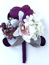 economico -Bouquet sposa Fiore all'occhiello / Braccialetto floreale Matrimonio / Da sera Poliestere 3.94 pollice