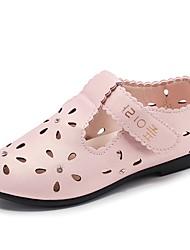 Недорогие -Девочки Обувь Полиуретан Лето Удобная обувь На плокой подошве Для прогулок Кристаллы для Дети Белый / Розовый