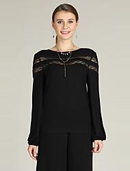 economico -Per donna Essenziale Sleeve Lantern Pullover - Con ricami, Tinta unita