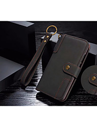 cheap -Case For Huawei P20 / P20 Pro Wallet / Card Holder / with Stand Full Body Cases Solid Colored Hard Genuine Leather for Huawei P20 / Huawei P20 Pro / Huawei P20 lite