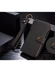 Недорогие -Кейс для Назначение Huawei P20 / P20 Pro Кошелек / Бумажник для карт / со стендом Чехол Однотонный Твердый Настоящая кожа для Huawei P20 / Huawei P20 Pro / Huawei P20 lite