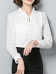 cheap -Women's Business / Street chic Blouse - Solid Colored