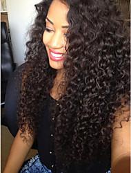 cheap -Virgin Human Hair Full Lace Wig Peruvian Hair Wavy Wig Layered Haircut 130% Natural Hairline / 100% Hand Tied Black Women's Long Human Hair Lace Wig