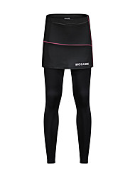 cheap -WOSAWE Women's Cycling Tights Bike Skirt / Tights / Bottoms Solid Colored, Classic Polyester, Spandex Black Bike Wear