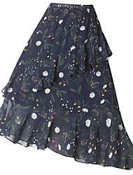 povoljno -ženske odlazne midi swing suknje - geometrijske