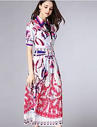 cheap -Women's Going out Slim Sheath Dress Shirt Collar