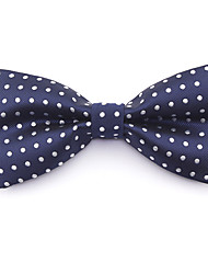 cheap -Men's Basic Cotton / Polyester Bow Tie - Solid Colored / Polka Dot Blue & White / All Seasons