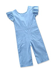 cheap -Baby Girls' Solid Colored Short sleeves Overall & Jumpsuit